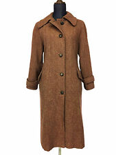 Old Vintage HARRIS TWEED Womens Hand Woven Made in England Wool Coat (No Size)