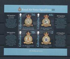 LL93523 Gibraltar coat of arms RAF good sheet MNH