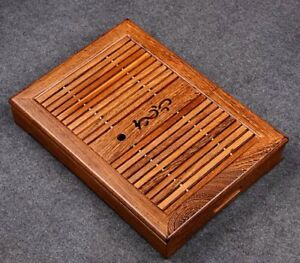 Gongfu Tea Tray One Or Two Tea Tray With Water Tray Dark Wooden Color Wenge