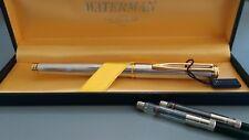 Waterman Gentleman Sterling Silver Fountain Pen 18k Gold, In Box