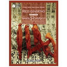 3 Pcs Red Ginseng Lebelage Natural Mask Facial Essence Sheet Pack Korea Beauty