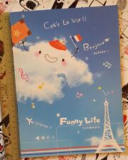 Kawaii Cute Season Paris France Cloud Notebook Exercise Book Journal Blue