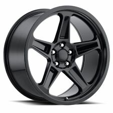 """4) 20"""" Staggered Demon SRT Style Gloss Black Challenger 300C Charger Wheels Rims"""