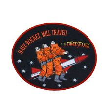 "Three Stooges Film Patch ""Have Rocket, Will Travel"" Movie Fan Iron-On Applique"