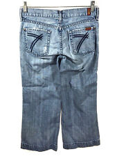 7 For All Mankind Boot Cut Dojo Capris Cropped Jeans Women 26 Actual 29x24
