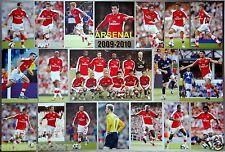 "ARSENAL F.C. ""2009-2010"" POSTER - Robin van Persie, Cesc Fàbregas, Theo Walcott"