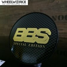 4xOriginal BBS Emblem  Felgendeckel Nabendeckel carbon/gold 70,6mm 0924692
