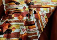 Vintage MCM Retro BARKCLOTH Fabric Abstract Mid Century Modern Design 2 1/3 Yard