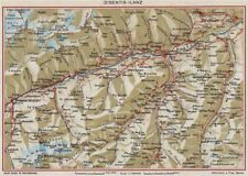 Rin. Flims Coira Falera Briel Andiast Waltensburg Disentis Ilanz 1948 Mapa