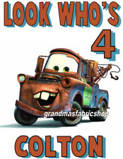 New Cars Mater Personalized Birthday T Shirt Add Name & Age Lightning McQueen