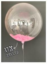 """36"""" Giant Clear Bubble baby pink Feather balloon wedding baby shower birthday"""
