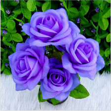 US Seller Home Wedding Party Decor Rose Bouquet Bunch Silk Artificial Flowers