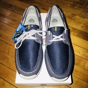 Mens Clarks Cloudsteppers Marus Edge Boat Shoes Comfortable and Sporty Sz 10.5