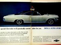 "1965 Chevrolet Impala Super Sport SS Original Print Ad 8.5 x 11"" 2 page"
