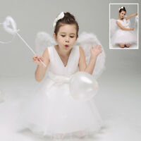 Nativity Angel + Halo Girls Fancy Dress Christmas Kids Childs Costume Outfit New