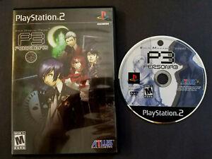 Shin Megami Tensei: Persona 3 PS2 - Sony PlayStation 2, 2007 CIB Tested