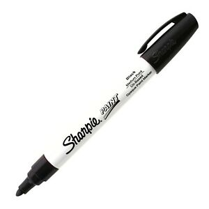 Sharpie Oil Base Paint Marker, Medium Bullet Point, Choose Color, 1 Pen/Pack