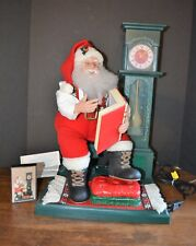 1993 Santa Claus Cassette Player & Clock Animated Musical Night Before Christmas