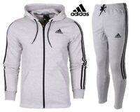 Adidas Mens Hoodies Tracksuit Bottoms Hoody 3-Stripes Joggers Fleece Sweatshirt