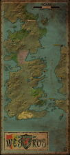 """12 Westeros Map A Song of Ice and Fire Series Art Maps 14""""x31"""" Poster"""