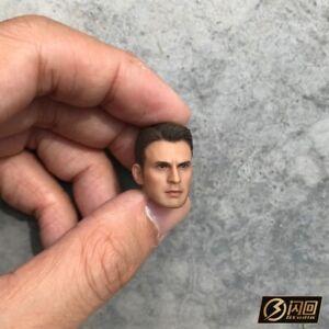 1/12 Scale Captain America Modle Head Carved Sculpt Fit 6'' Action Figure Toy