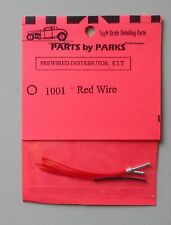 RED PRE-WIRED DISTRIBUTOR 1:24 1:25 PART BY PARKS CAR MODEL ACCESSORY 1001
