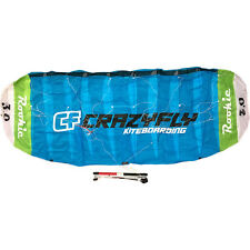 Crazyfly Rookie 3m Trainer Kite Kiteboarding Foil Power Traction Blue Green