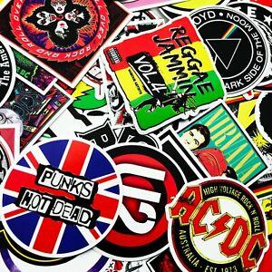 100 PCS Rock Band Logo Stickers Decal Lot Punk Vinyl Music Heavy Metal Laptop