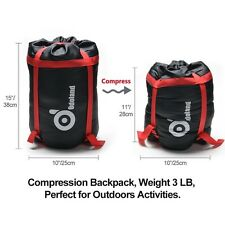 Cold Weather Sleeping Bag Camping Waterproof Windproof Compression Lightweight