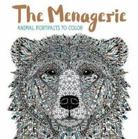 The Menagerie: Animal Portraits to Color  VeryGood