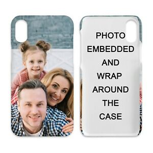 Personalised Wrapped Custom Hard iPhone Case - image wrapped around the case.