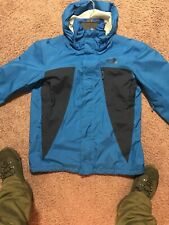 The North Face Men's Blue & Grey Goretex Jacket Outdoor Winter Wear Coat Large