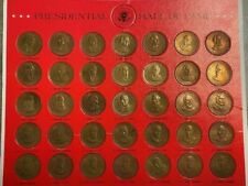 U.S. PRESIDENTIAL HALL OF FAME SOLID BRONZE COLLECTOR'S SET