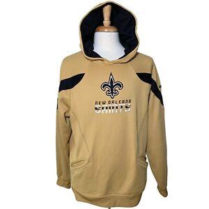 Reebok NFL New Orleans Saints Sideline Hoodie On Field White, Men's L