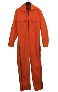 Vintage Walls Blizzard Pruf Orange Insulated Coveralls Outerwear Medium Tall MT