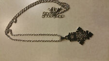 Ethiopian Orthodox Christian cross Coptic necklace in silver color