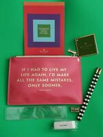 Kate Spade Pencil Pouch Bag w Accessories Ruler, Pencils, Sharpener, Eraser NWT