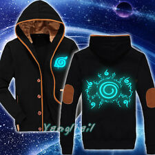 Luminous Naruto Uzumaki Unisex Winter Casual Jacket Sweatshirt Coat Hoodie #X-01