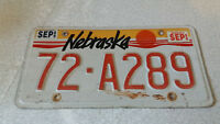 VINTAGE AMERICAN VEHICLE  STATE LICENSE / NUMBER PLATE -NEBRASKA - A289