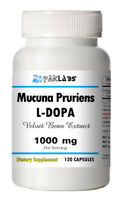 Mucuna Pruriens Extract 1000mg Serve 120 Capsules L-Dopa Velvet Bean Big Bottle