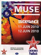 Publicité Advertising 2010  Radio Virgin PopRock MUSE au stade de france