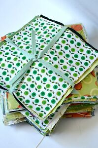 Green Bundle Craft Fabric Material Sewing Quilting Patchwork Squares