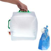 Portable 2L-20L Folding Water Storage Lifting Bag Camping Hiking Survival Tool