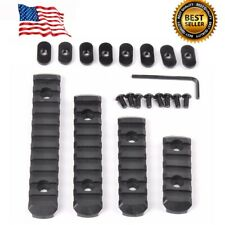 4Pcs Rifle Polymer M-LOK 20mm Picatinny Weaver Rail Section Set for Guard