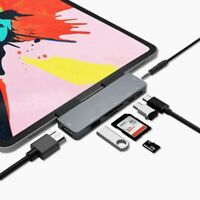 USB C HUB Type 3.1 to HDMI 3.5mm Aux USB 3.0 SD TF reader adapter for iPad pro