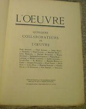 L'ŒUVRE/ARTS DU THÉÂTRE/LUGNÉ-POE/BAKST/DETHOMAS/BÉRAIN/LISSIM/GONTCHAROVA/ 1923