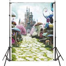 Fairyland Castle Mushroom Thin photography Backdrop Background props 3X5FT 6695
