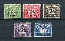 BOIC BMA Eritrea KGVI 1948 postage due set of 5 SG ED1/5 mounted mint