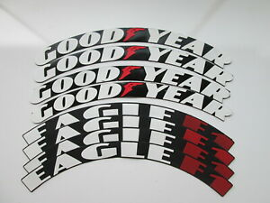"Goodyear Eagle F1 Tire Stickers Tire Lettering  15""-22"" Wheels 1.00"" inch 8 pcs"