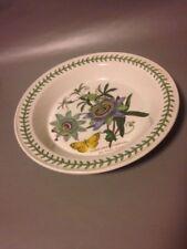 Vintage Large Shallow Portmerion Fruit Or Salad Bowl Blue Passion Flower Botanic